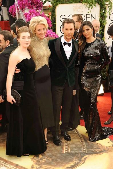 Helen, Mirren, Matthew McConaughey y Camila Alves