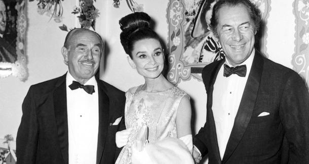 jack warner (producer), audrey hepburn & rex harrison - opening of my fair lady 1964