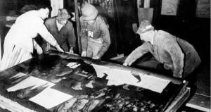 Recuperación del Altar de Gante en una mina de sal en Alemania.