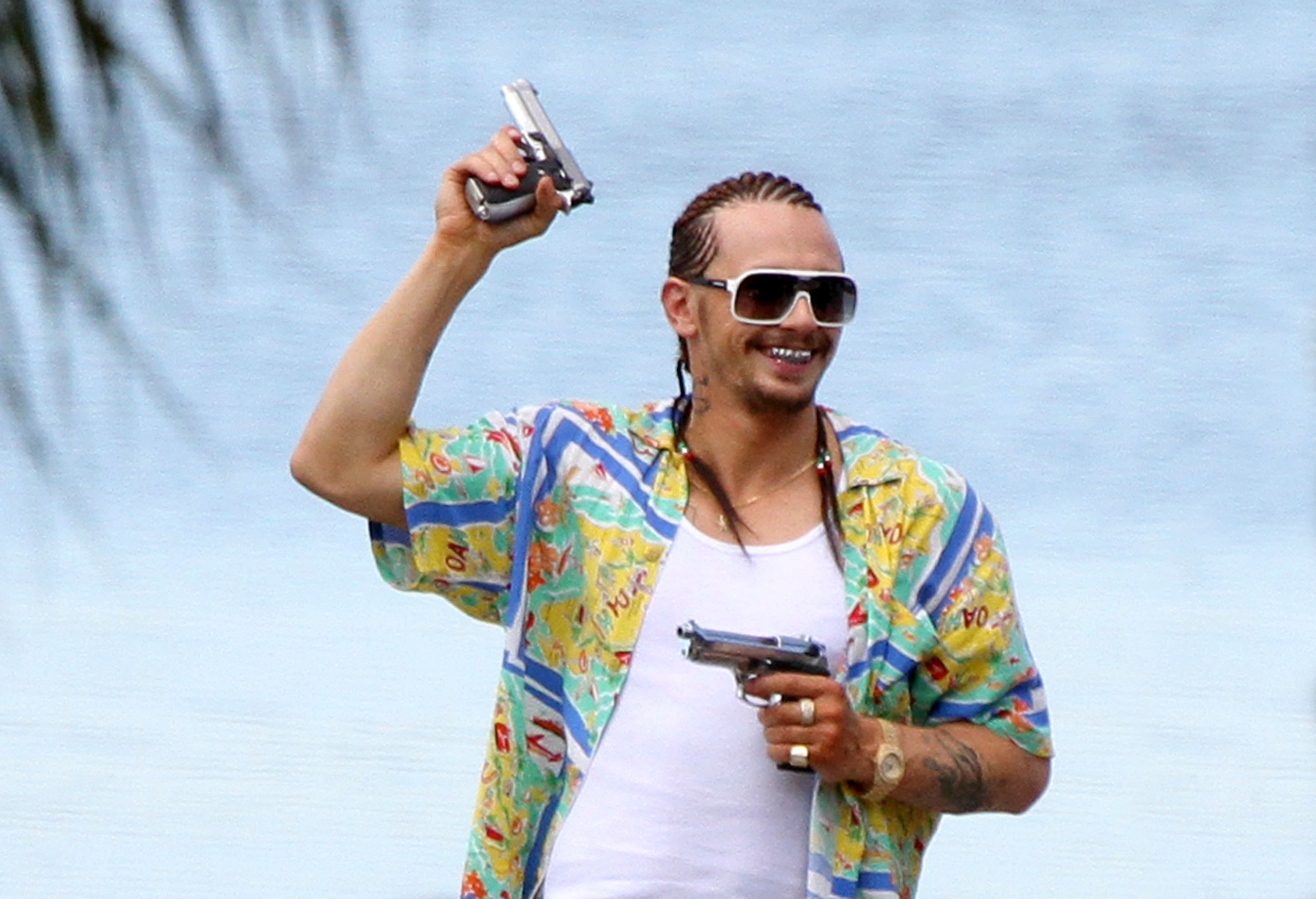 Exclusive - James Franco Resembles K-Fed As He Films Spring Breakers